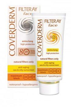 Coverderm Filteray Face Színezett SPF 80 50 ml