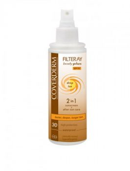 Coverderm Filteray Body Plus SPF30 spray deep tan 2in1 100 ml