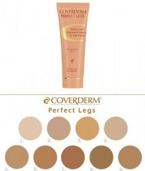 Coverderm Perfect Legs színminták 7 ml