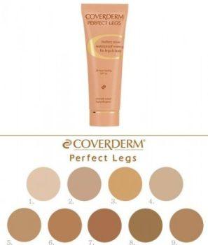 Coverderm Perfect Legs színminták 7 ml