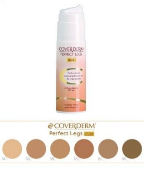 Coverderm Perfect Legs Fluid színminták 10 ml